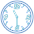 Analog Clock - Neon Transparent Theme thumbnail