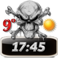 Skulls Clock Weather Widget thumbnail