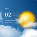 Transparent clock and weather thumbnail