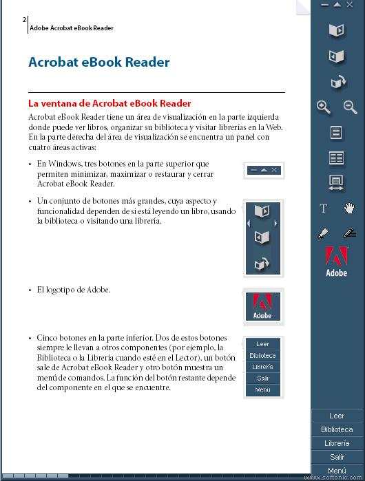 Reading pdf documents with adobe reader 6. 0.