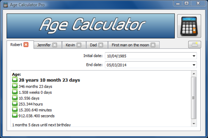 Age Calculator  Net - Free Download