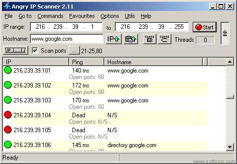 Angry IP Scanner - Free Download