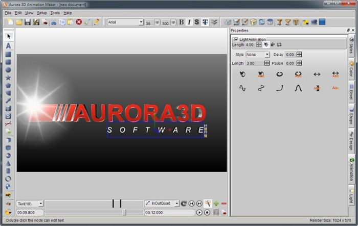 3d text animation software free download for windows 7