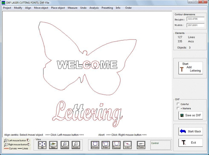 DXF LASER CUTTING FONTS - Free Download