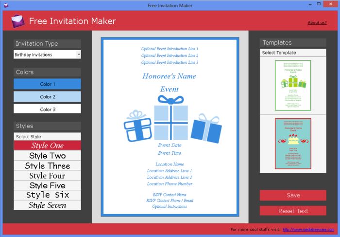 Free invitation maker free download filmwisefo Image collections