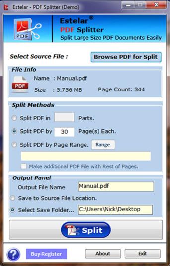 PDF Splitter - Free Download