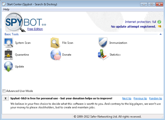 Spybot free download for windows 7.