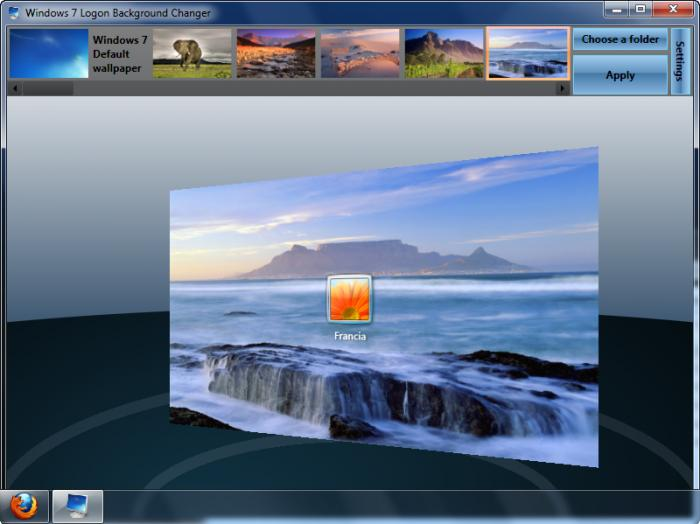 Windows 7 Logon Background Changer Free Download