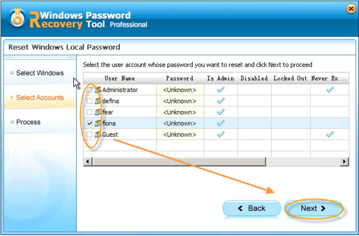Windows Password Recovery Tool Professional - Free Download