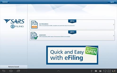 SARS eFILING (APK) - Free Download