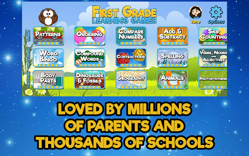 free first grade learning games